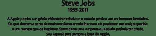 Adeus Steve Jobs