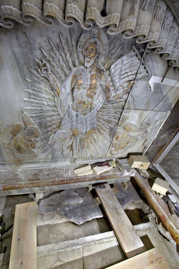 La tumba de Jesús, donde se cree que su cuerpo fue colocado.