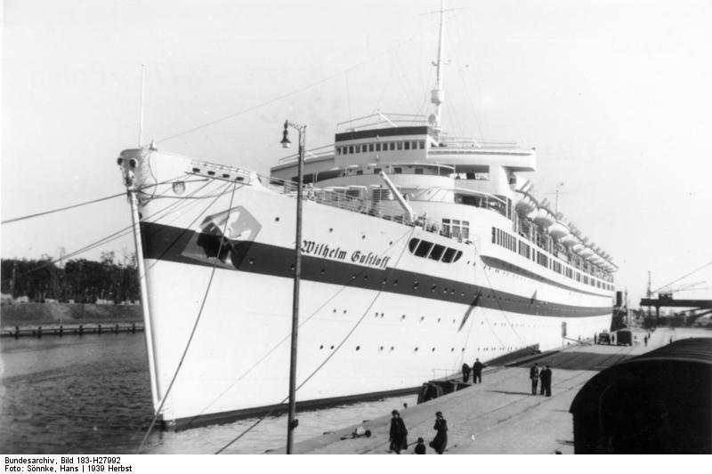 El Wilhelm Gustloff durante la época en la que estuvo siendo utilizado como buque hospital