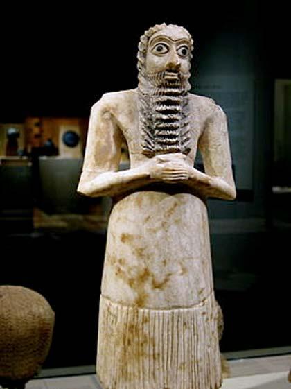 Estatuilla de un devoto sumerio, 2750-2600 a. C.