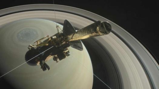 La sonda Cassini se sumerge entre Saturno y sus Anillos, próxima a su Gran Final
