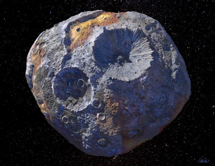NASA to explore a metal asteroid valued at 10,000 quadrillion dollars