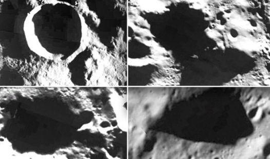 Zonas oscuras de la Luna planteadas como posible entradas.