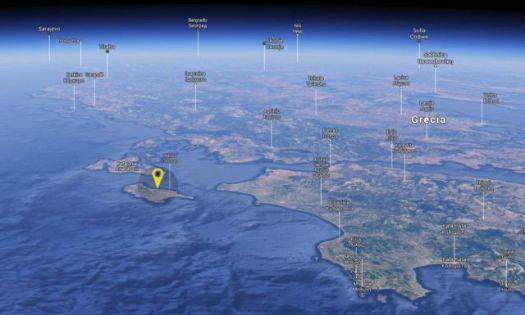 Isla de Zacinto. Los extravagantes hallazgos han sido realizados en la bahía de Alikanas, en la isla de Zacinto, perteneciente a las islas Jónicas.