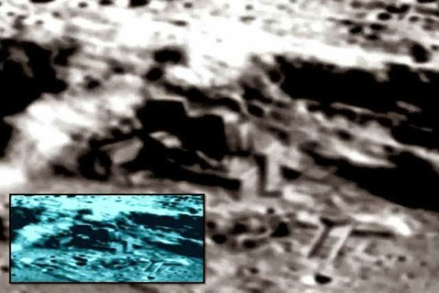 Possible artificial construction on the Moon (John Lear reveals about aliens on moon)