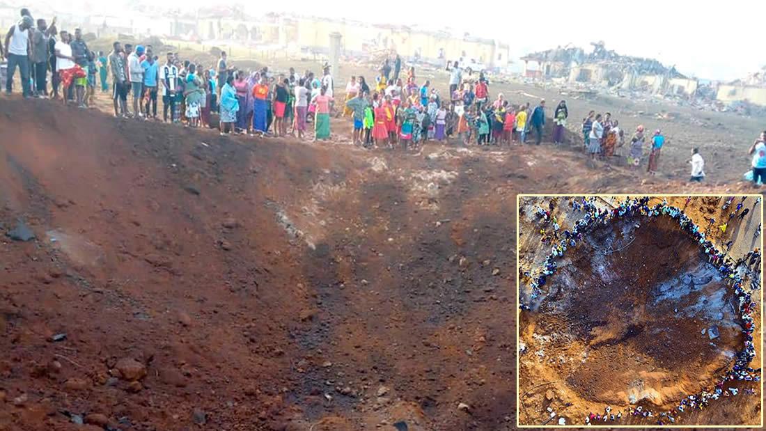 Meteorito impacta en Nigeria destruyendo casas y dejando un cráter ...