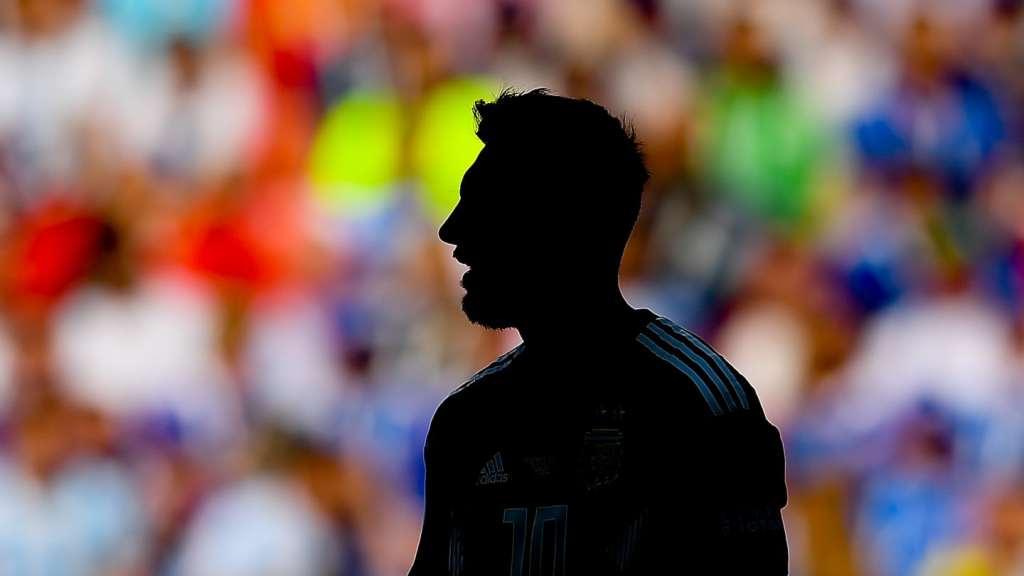 Messi en el partido contra Islandia