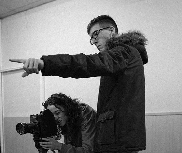 Santiago Ráfales, dirigiendo uno de sus cortos./Fuente: S.R.