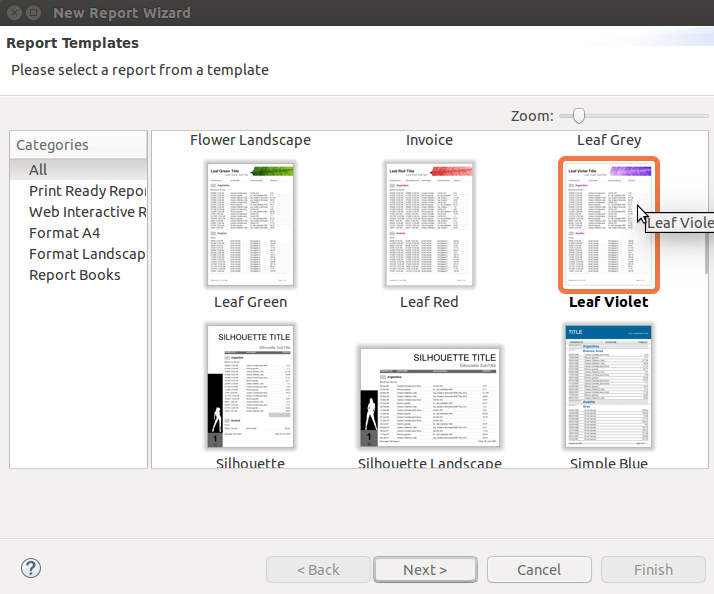 Jasper Report Template  as you can see below the slash for the