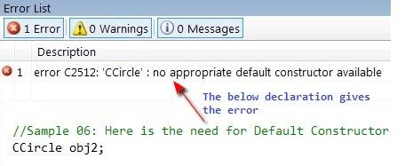 Compiler Error: C2512