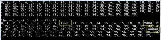 Program Output 1