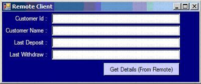 Dotnet Remoting - Client Application
