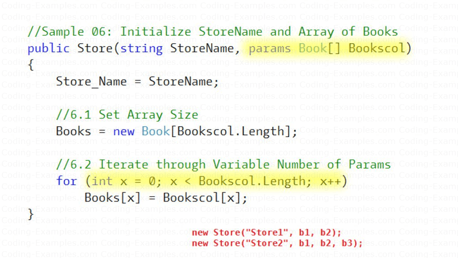 Variable Number of Parameters to Constructor