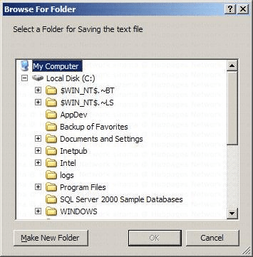 C-Sharp Folder Browser Dialog