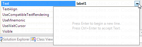 Adding Multiple lines of Text to a Label Control at Design Time