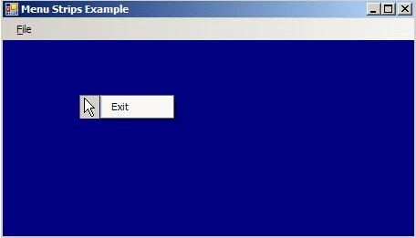 C# Context Menu Example
