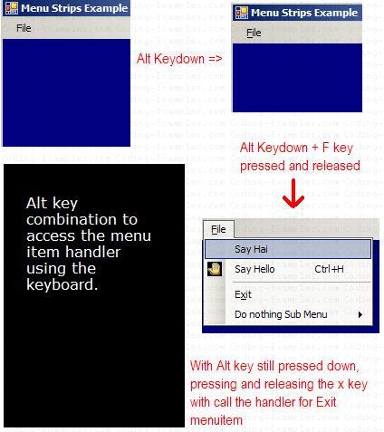 MenuStrip Control - Alt Key Processing