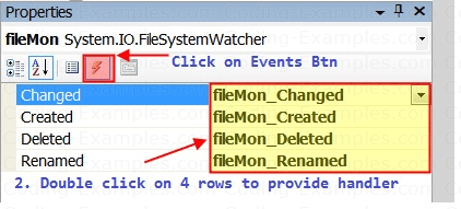 Events of FileSystemWatcher Component