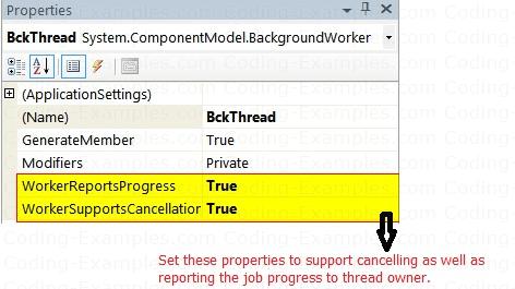 Worker Thread Progress Reporting