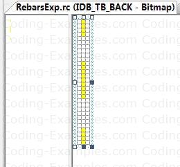 Bitmap Resource for Rebar Background