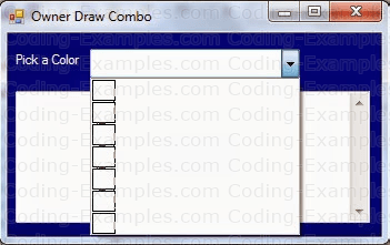 Owner Drawn ComboBox - Stage1 - Tiles
