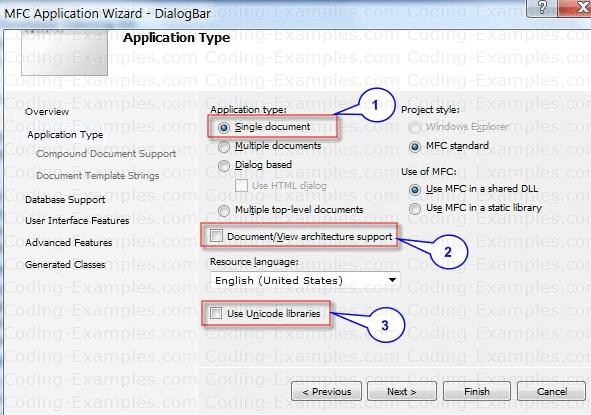 Creating MFC SDI Application