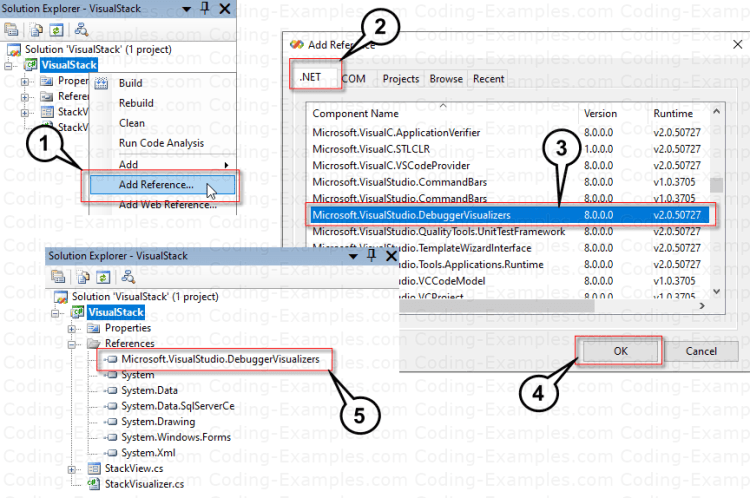 Add Debugger Visualizers Reference To Class Library Project