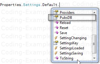 Intellisense for ConnectionString property