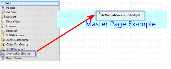 Adding SiteMapDataSource to the Asp.Net Form
