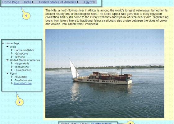 Asp.Net Navigation control Example