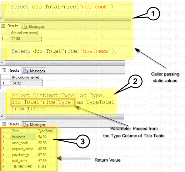 Executing Scalar-Valued function with Parameters in SQL Server Management Studio