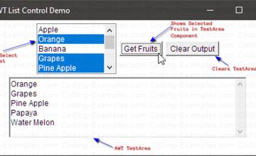 Java AWT Multi-Select List Example