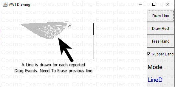 Rubber Banding Issue - AWT Line Drawing