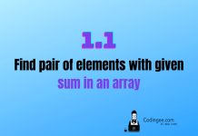 find pair of elements with given sum in an array thumbnail