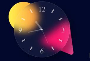 glass-effect-clock