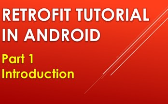 Retrofit tutorial in android