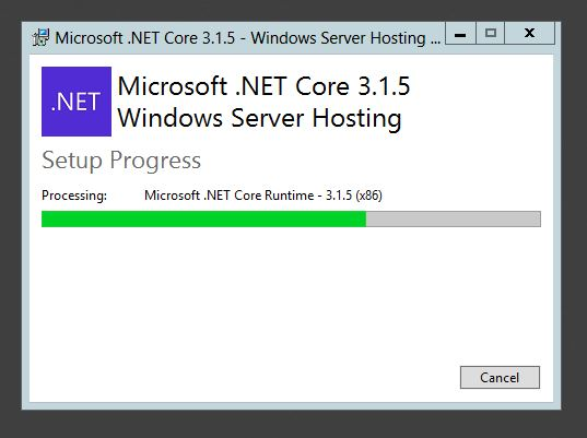 Install .Net Core Runtime 3.1