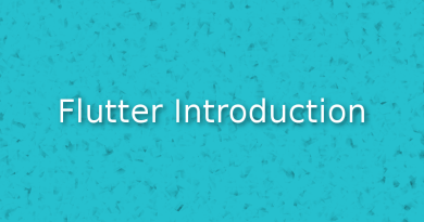 An Introduction to flutter