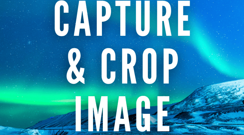 capture and crop image android