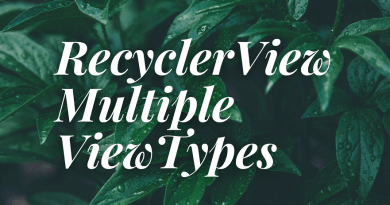 recyclerview multiple view types