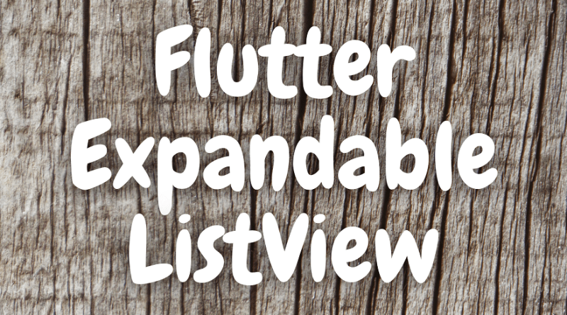 flutter expandable listview