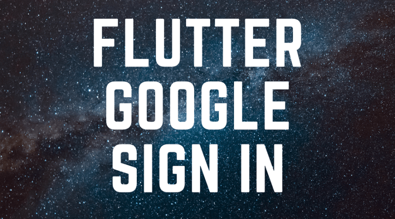 google sign in flutter