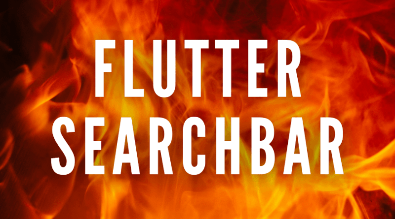 flutter search bar