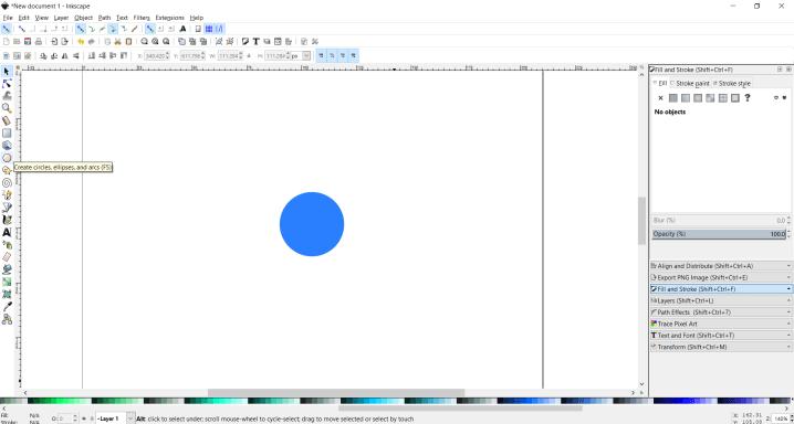 inkscape circle draw