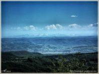 Valea MURESULUI si muntii RETEZAT in departare
