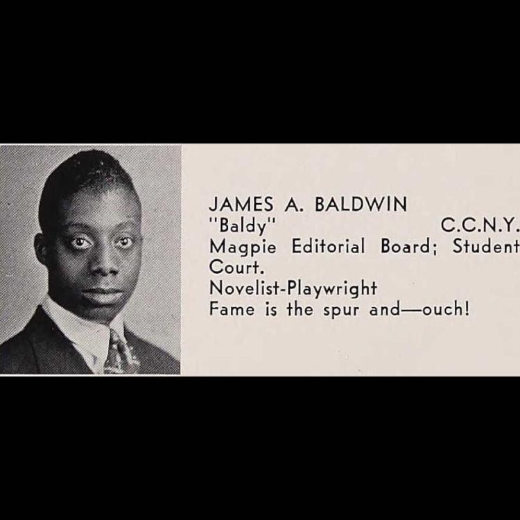 James Baldwin, Dewitt Clinton High, Bronx 1942 Dude knew what he wanted.