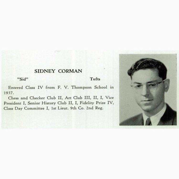 Cid Corman, Boston Latin, 1941