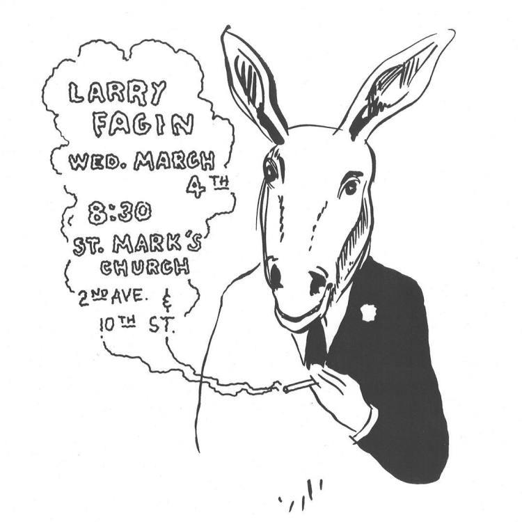 Poster for Larry Fagin reading, March 4, 1970 by Joe Brainard