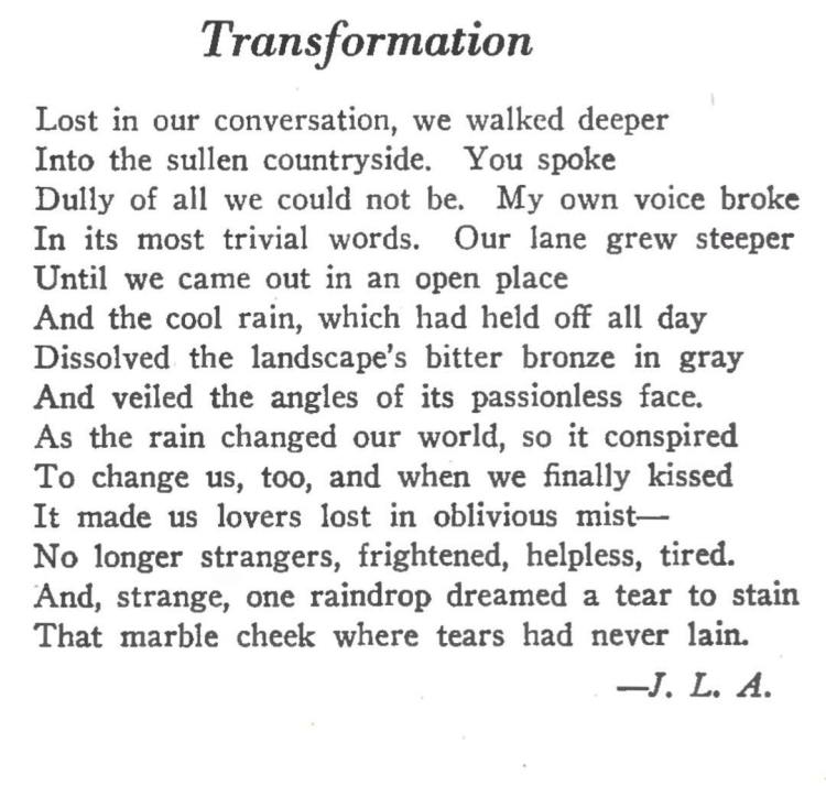 Happy Birthday 90th John Ashbery! Here's a sonnet from 17 yr old