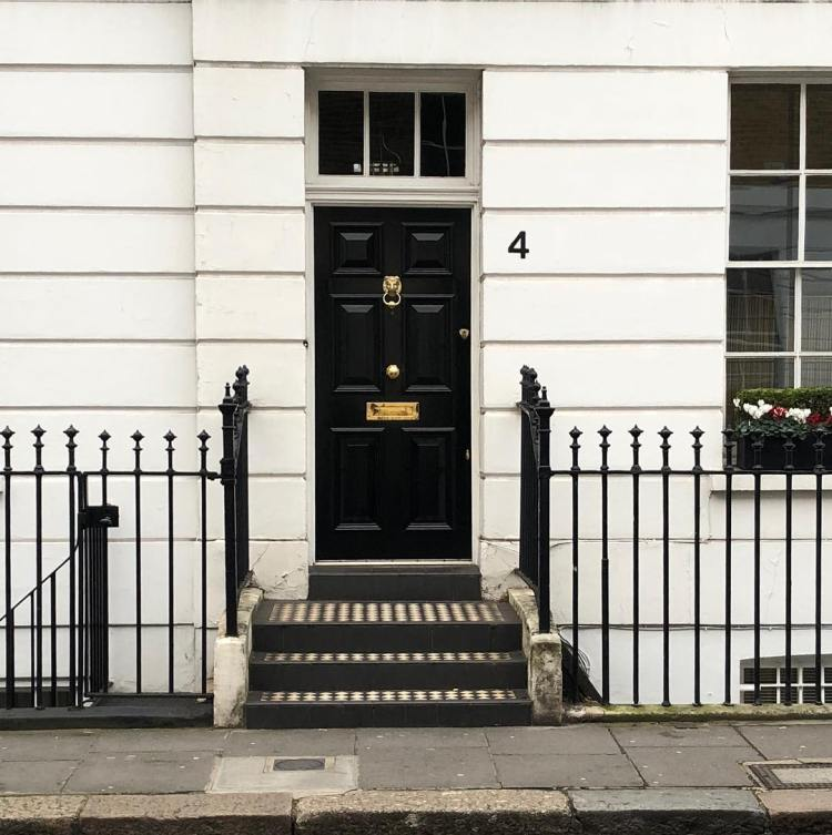 Marx's first apartment in London (1849) at 4 Anderson Street in Chelsea. He was evicted for failure to pay rent.